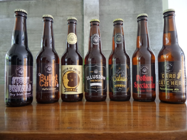 Some of the amazing beers that Illusion Brewery brews. All are proudly made in Negros Island!