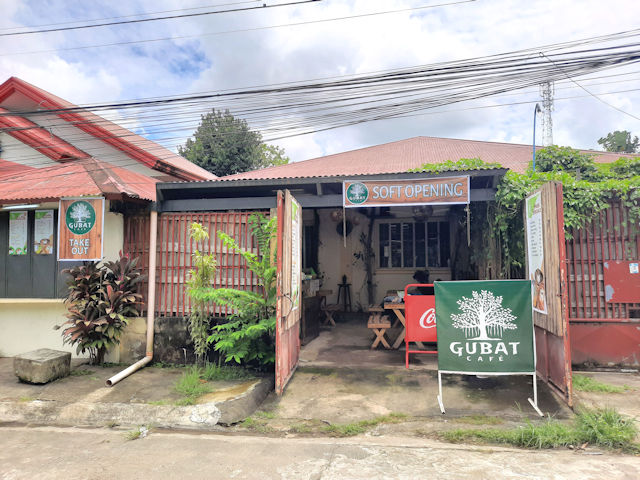 The outside of Gubat Cafe.  You'd never guess that this place is a reptile cafe!